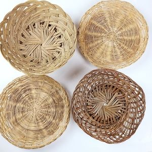 《Vintage》4 Boho woven basket Wall